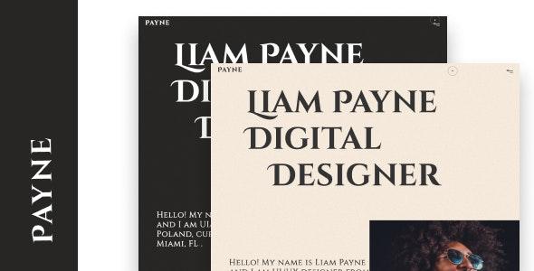 Payne - Creative Portfolio Template - Creative Site Templates