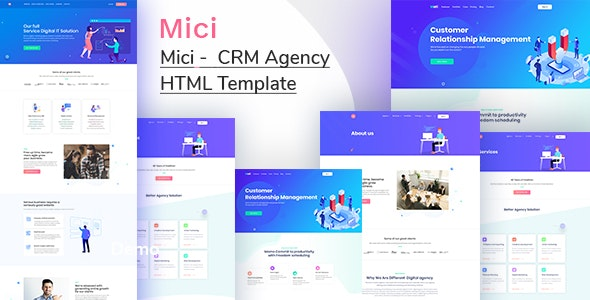 Mici - CRM system HTML Template - Software Technology