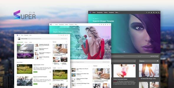 Superzin - Responsive Blogging & Magazine Blogger Template