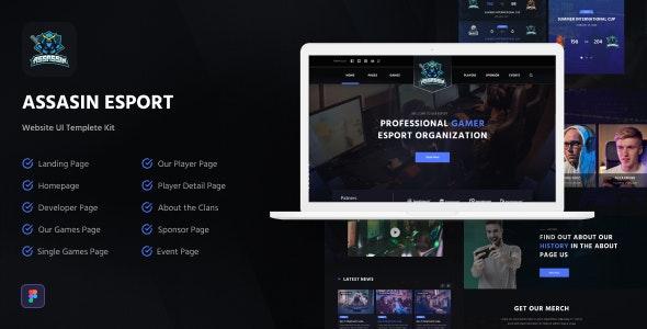 Assasin | eSport Web UI Kit for Figma - Events Entertainment