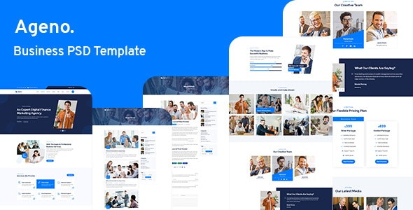 Ageno - Business PSD Template - Business Corporate
