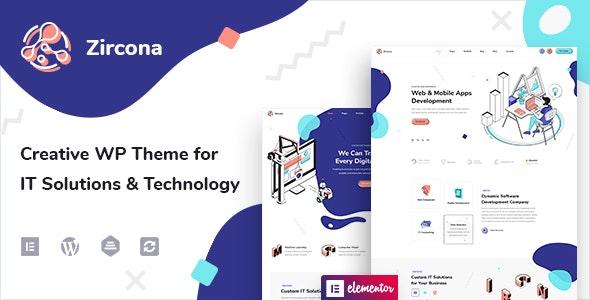 Zircona - IT Solutions & Technology WordPress Theme - Technology WordPress