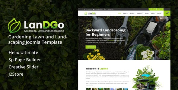 Download LanDGo - Gardening Lawn and Landscaping Joomla Template
