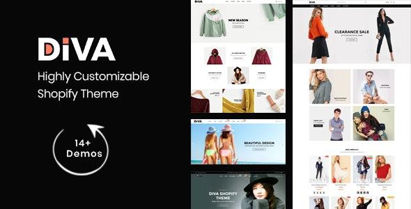 Diva - Minimal and Modern Shopify Theme - Fashion Shopify
