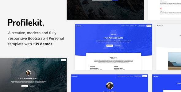 Profilekit - Bootstrap Portfolio Template - Personal Site Templates