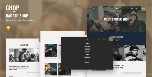 Chop - Barber Shop Sketch Template - Health & Beauty Retail