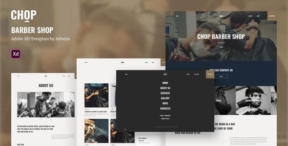 Chop - Barber Shop Adobe XD Template - Health & Beauty Retail