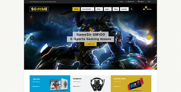 SGame - Responsive Accessories Store OpenCart Theme (Include 3 mobile layouts)