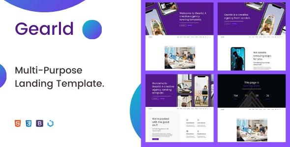 Gearld — Multi-Purpose Creative Landing Template - Creative Landing Pages