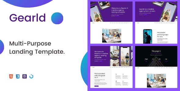 Gearld — Multi-Purpose Creative Landing Template
