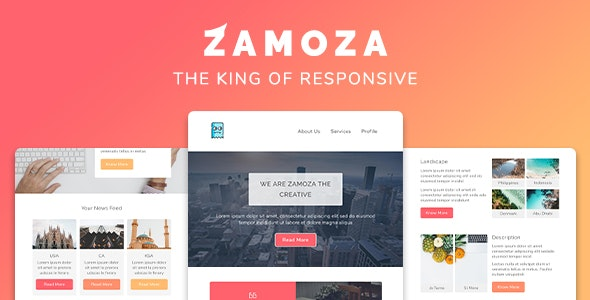 Zamoza Responsive Multipurpose Email Template - Newsletters Email Templates