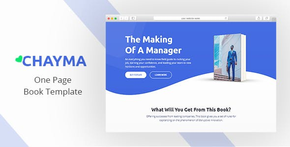 Download Chayma - Book Author Promotion Template