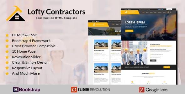 Download Lofty Contractors - Responsive HTML Template