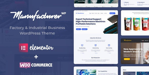 Manufacturer - Factory and Industrial WordPress Theme - Business Corporate