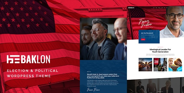 Baklon - Election & Political WordPress Theme - Political Nonprofit