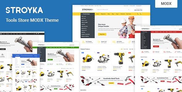Stroyka – Tools Store eCommerce MODX Theme - MODX Themes CMS Themes