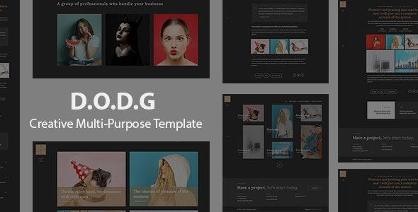 D.O.D.G - Creative Multi-Purpose Template - Creative Site Templates
