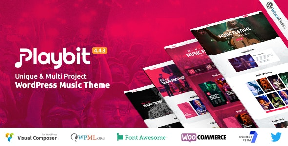 Playbit - Music Oriented WordPress Theme - Music and Bands Entertainment