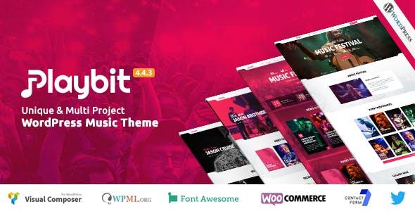 Playbit - Music Oriented WordPress Theme
