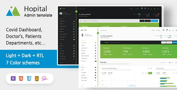 Download Mooli. Hospital - Responsive Admin Dashboard Template