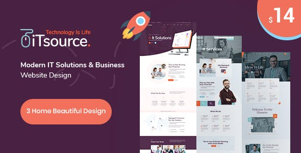 Download iTsource - IT Solutions & Services HTML Template