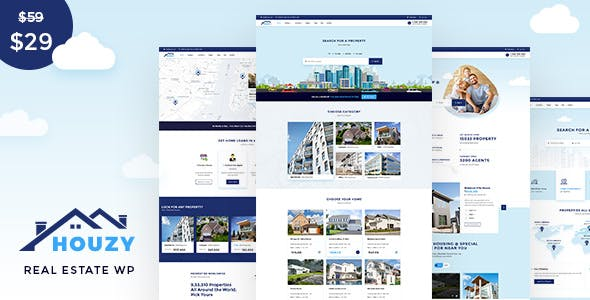 Download Houzy - Real Estate WordPress Theme
