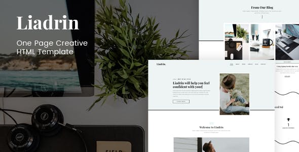 Download Liadrin - One Page Creative HTML Template