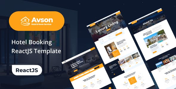 Download Avson - Hotel & Room Booking ReactJs Template