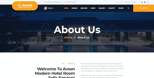 Avson - Hotel & Room Booking ReactJs Template