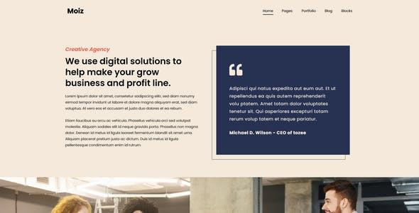 Moiz - Digital Marketing Agency Adobe XD Template