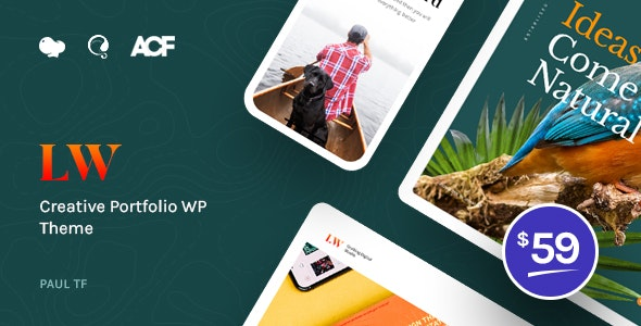 Lewis - Creative Portfolio WordPress Theme - Portfolio Creative