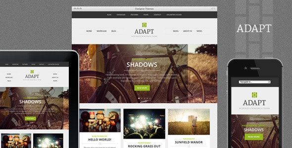 Adapt, a Responsive WordPress Theme - Blog / Magazine WordPress