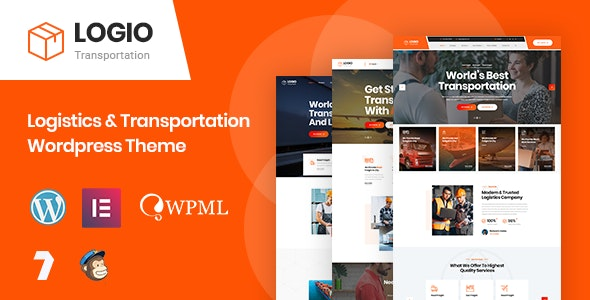 Logio - Logistics & Transportation WordPress Theme - Business Corporate