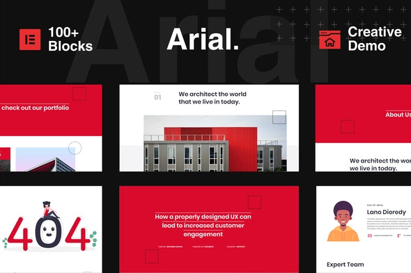 Arial - Architecture, Construction & Real Estate Elementor Template Kit - Real Estate & Construction Elementor
