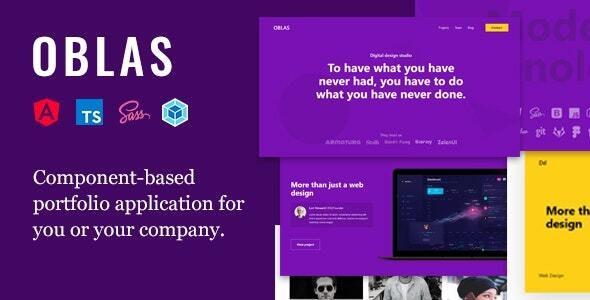 Oblas - Angular Portfolio Web Application - Portfolio Creative