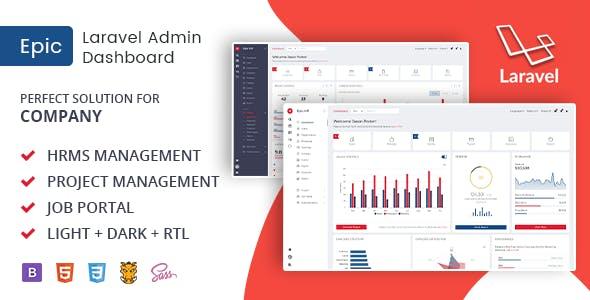 Epic Pro - React + Angular + Laravel + Bootstrap HR Management Admin Template & UI Kit
