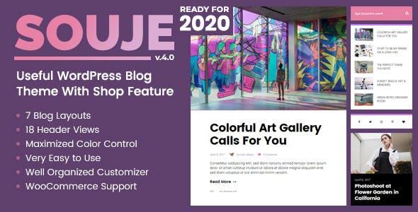 Souje - Personal WordPress Blog Theme by Burnhambox