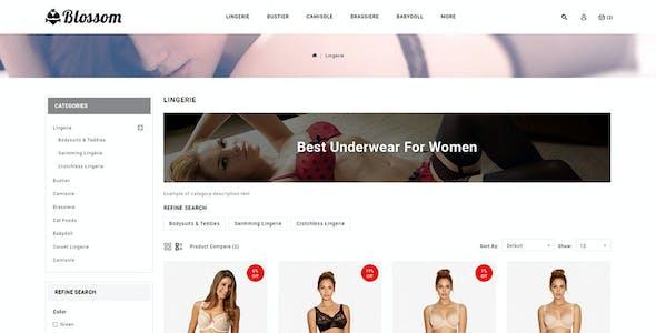 Blossom - Lingerie Store OpenCart 3.x Minimal Responsive Theme