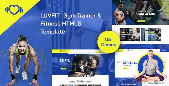 Download LUVFIT- Gym Trainer & Fitness HTML5 Template