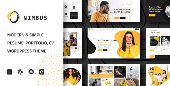 Download Nimbus - CV & Portfolio WordPress Theme