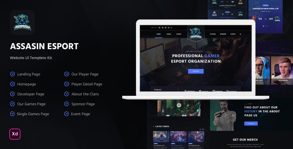 Assasin - eSport Website Template - Events Entertainment