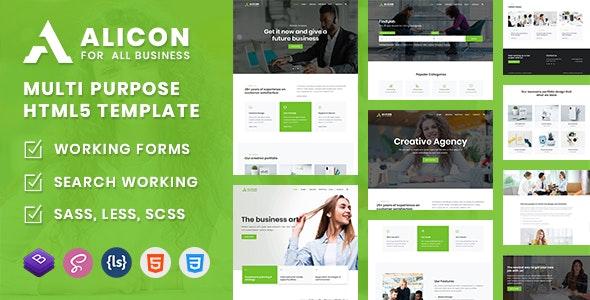 Alicon - Multi Purpose HTML5 Template - Business Corporate