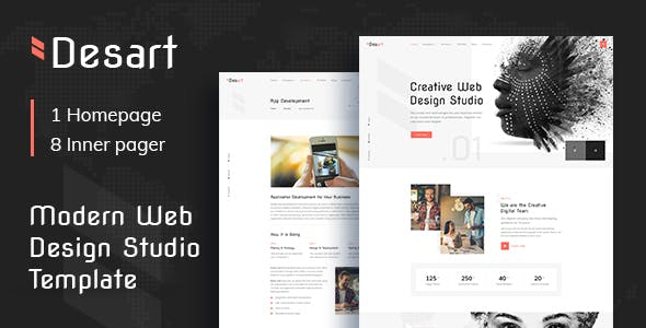 Download Desart - Creative Web Design Studio HTML Template