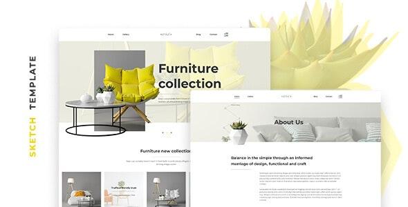 Enkel – Furniture Company Template for Sketch - Portfolio Creative
