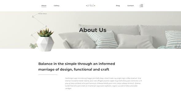 Enkel – Furniture Company Template for Sketch