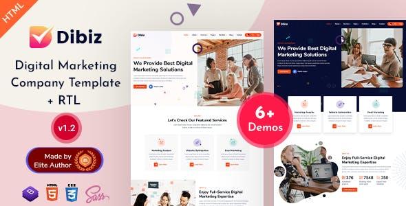 Download Dibiz - Digital Marketing Company HTML Template