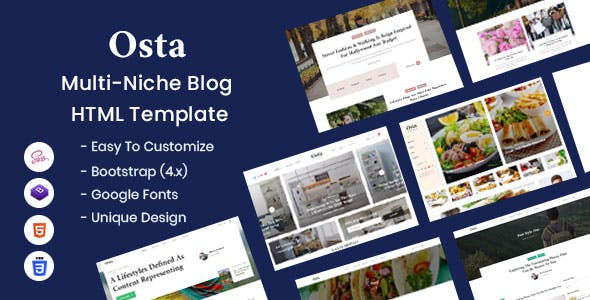 Download Osta - Multi-Niche Blog HTML Template