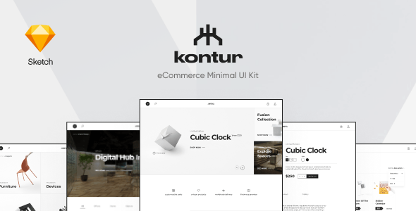 Kontur – eCommerce Sketch Template - Shopping Retail