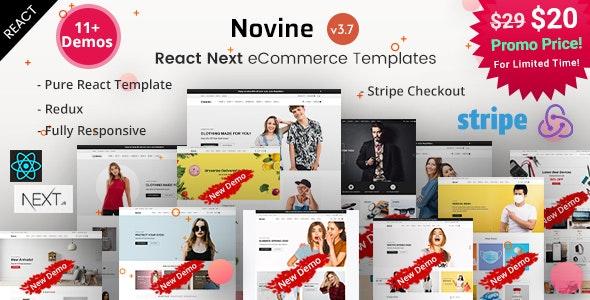 Novine - React Next eCommerce Templates - Retail Site Templates