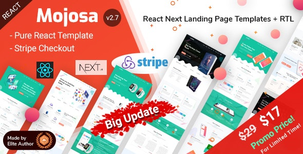 Mojosa - React Next Landing Page Templates - Miscellaneous Site Templates